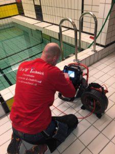 Zwembad lekdetectie, TV/Video inspectie.