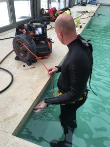 Zwembad lekdetectie TV/Video inspectie